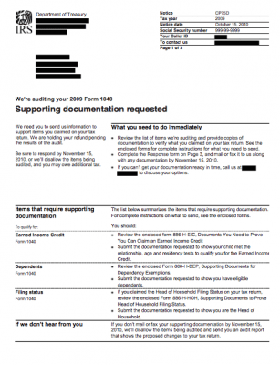 tax mistakes audit letter