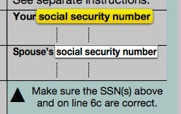 tax mistakes social security number