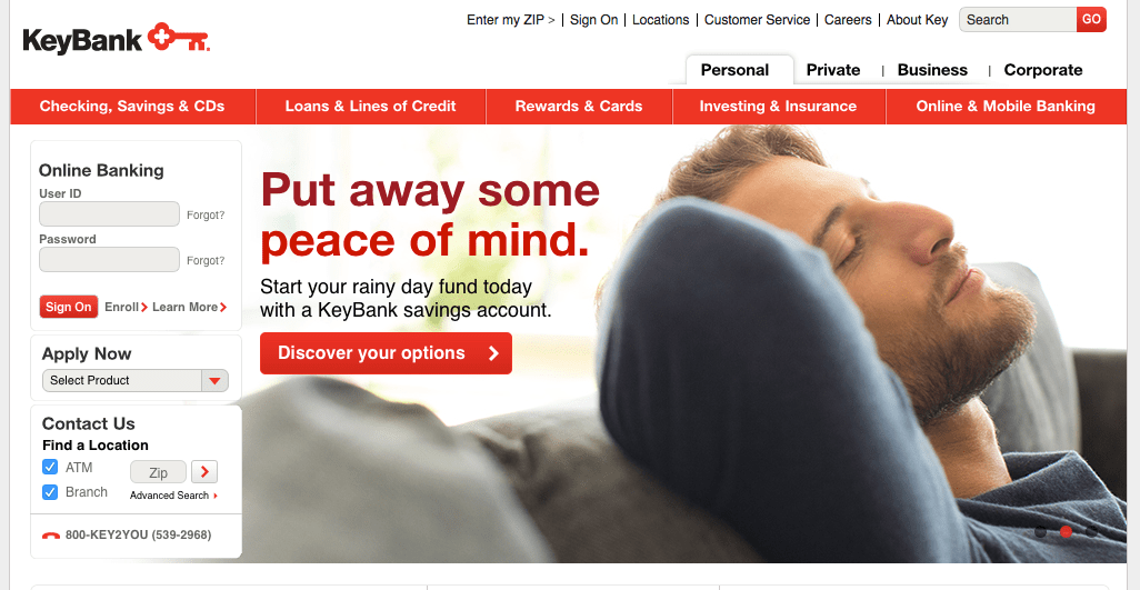 how to close keybank checking account