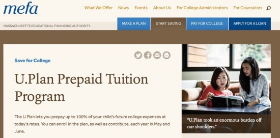 massachusetts 529 prepaid tuition college savings