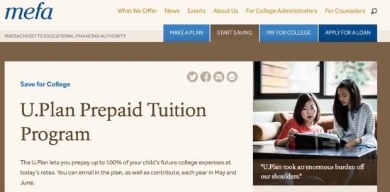 massachusetts 529 prepaid tuition college savings