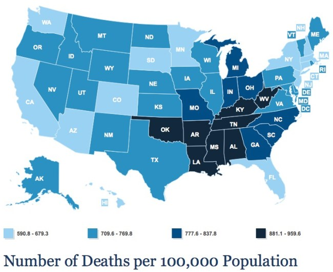 being poor can kill you death rates by state kaiser family foundation