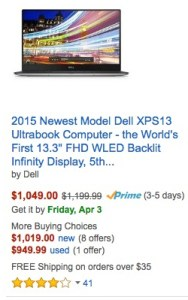 dell xps 13 holds value