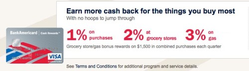 types credit cards rewards cards bank of america