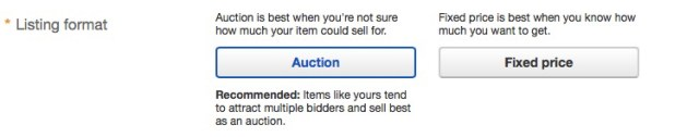 how to sell on ebay auction