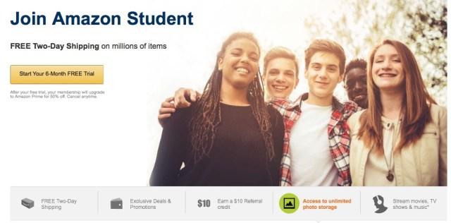 save money amazon student