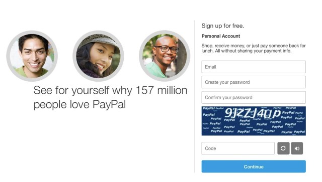how to get a paypal account personal