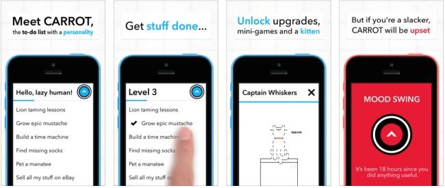 Carrot iPhone productivity app save money