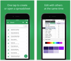 Google Sheets iPhone app saves money
