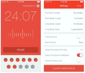 Pomodro save time and money app