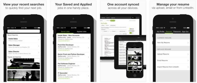 best iphone job search apps ziprecruiter