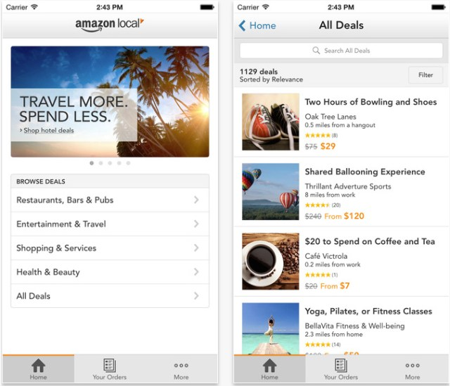 iphone apps save money amazon local