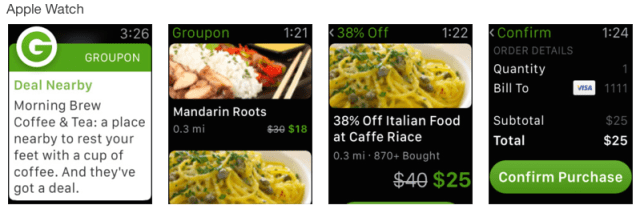 iphone coupon apps groupon apple watch