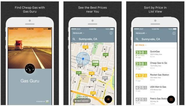 iphone gas apps gas guru save money