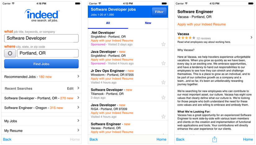 job search apps iphone indeed