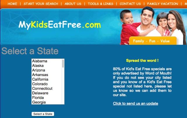 kids eat free restaurants mykidseatfree
