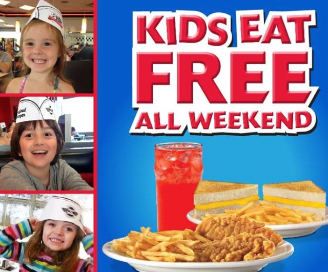 kids eat free steak n shake weekend