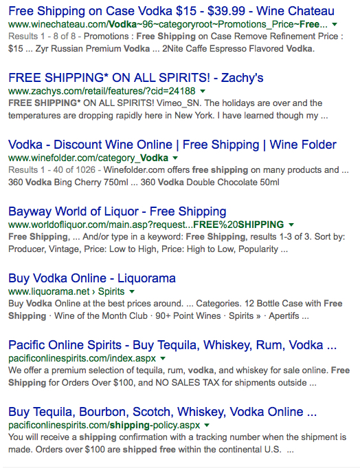save money on alcohol free shipping