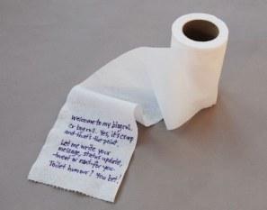 toilet paper message