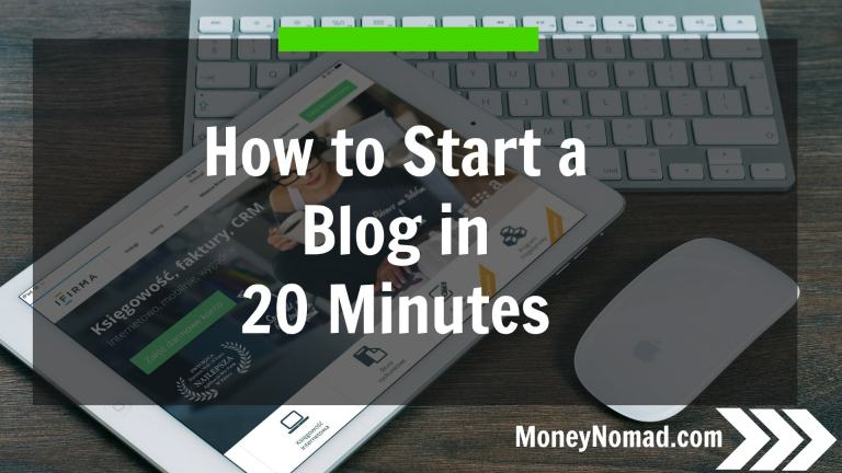 Start a blog in 20 minutes