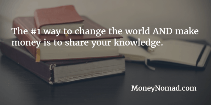 change the world and make money by selling your information