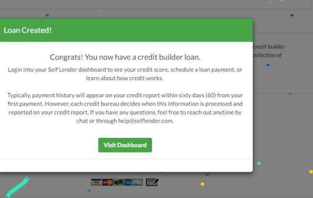 Self Lender Loan Created