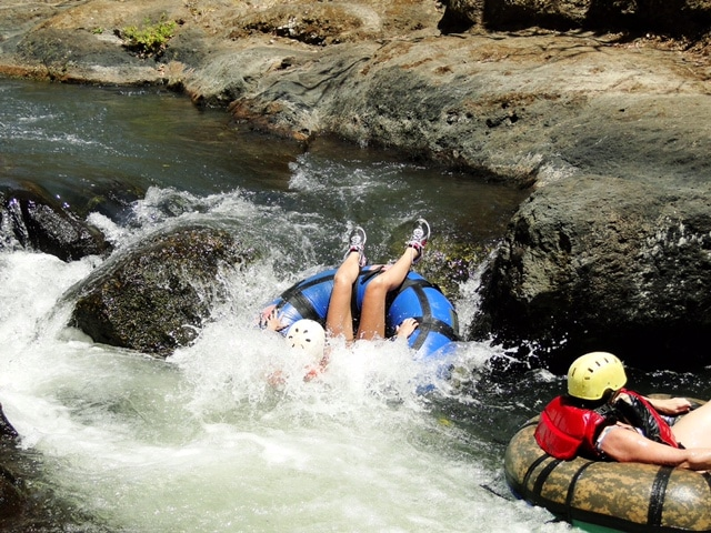 I've got rafting before -- but this was my first white water tubing experience. It's like a 3 mile long water slide. Awesome!