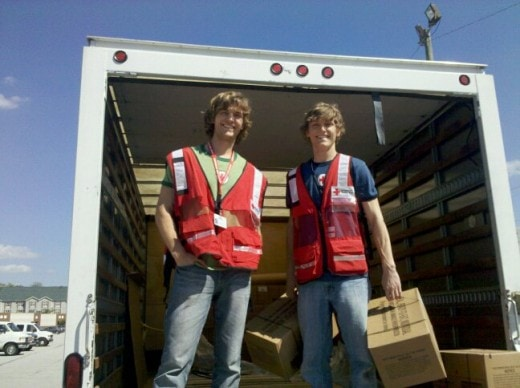 Rob and Steve with the Red Cross in Chattanooga