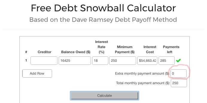 Free Debt Snowball Calculator