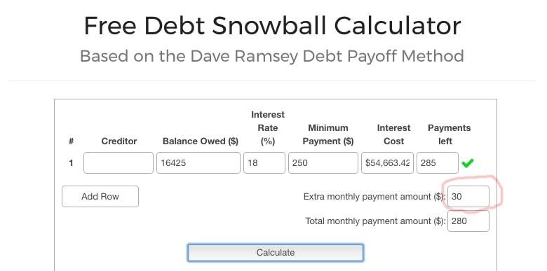 Free Debt Snowball Calculator 02