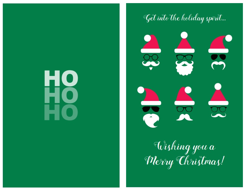 47 Free Printable Christmas Card Templates You Can Even