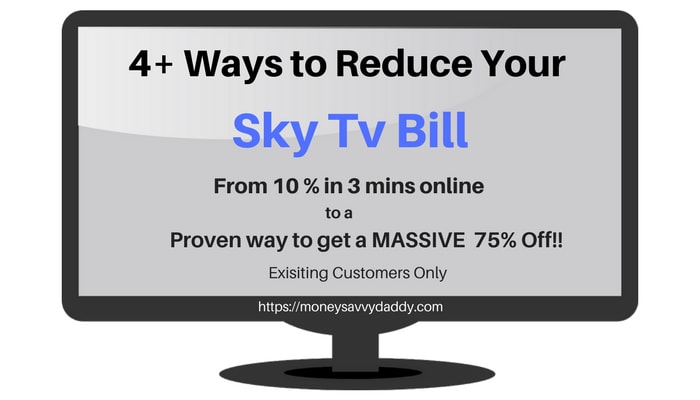 How To Get a Sky TV Discount of 10% to 75%