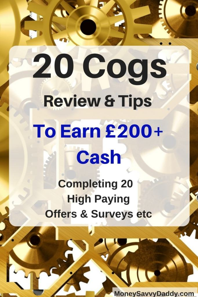 20 Cogs Review – Scam or Legit Way To Make £200+