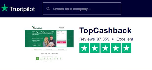 Trustpilot Topcashback Reviews
