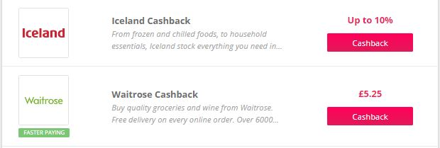 TopCashback New Customer Grocery Deals