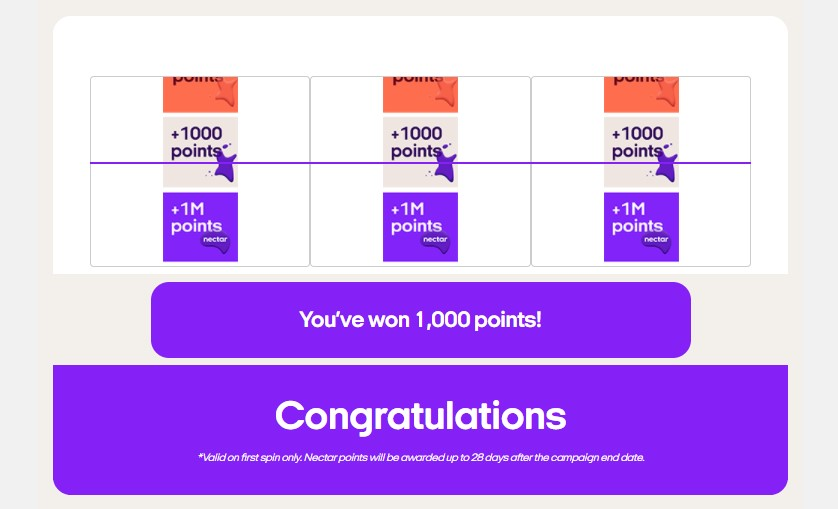 Win Free Nectar Points