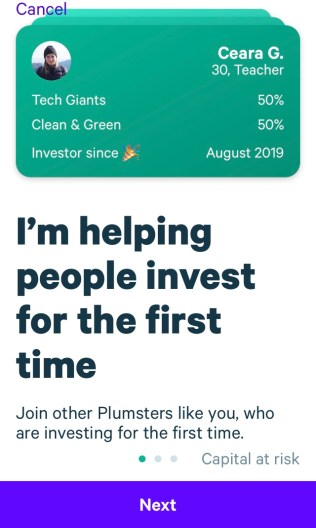 Plum Investing App for Beginners