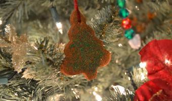 Homemade Cinnamon Christmas Ornaments #cinnamonornaments #cinnamon #cinnamonapplesauceornaments #ornaments #christmastree #Christmas #christmascraft #kidcrafts #Christmasdecor