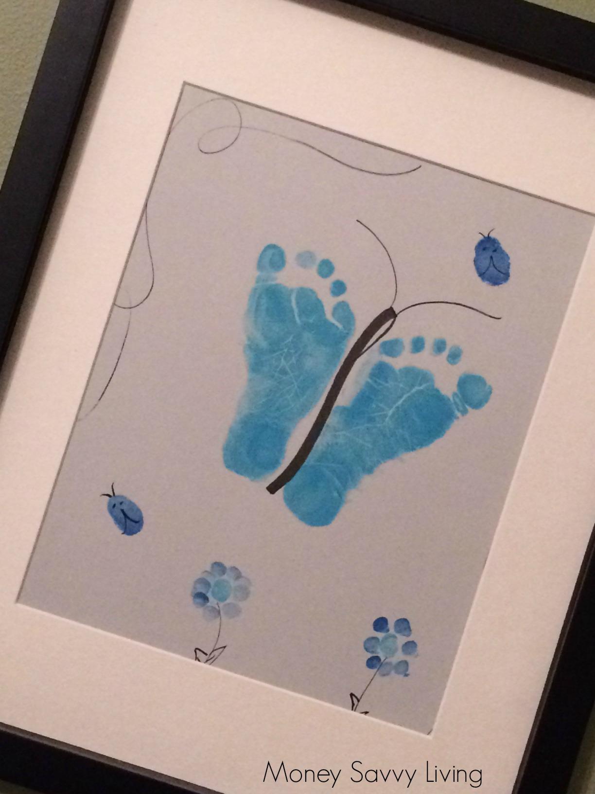 Blue Footprint Keepsake | Money Savvy Liivng