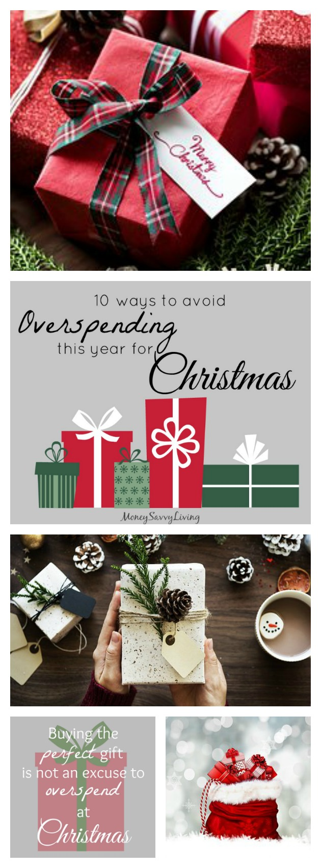 Make sure that you don't end up with a huge credit card bill for the New Year. Check out these 10 Ways to Avoid Overspending This Christmas. #budget #Christmas #Christmasgifts #gifts #Christmasbudget #holiday #shopping #money #finance #newyearsresolution