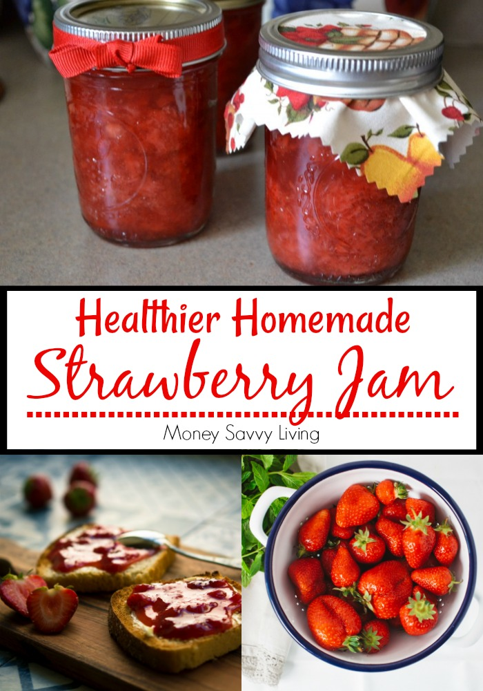 Homemade Strawberry Jam for Canning. You will love this classic recipe for homemade strawberry jam... and it is so much healthier than store bought! #jam #jamrecipe #strawberry #strawberryjam #strawberryjamrecipe #homemadejam #makehomemade #homemaderecipe  #howtocanjam #canningjam #howtomakejam #healthyjam #healthyjamrecipes #cannedjamrecipe #easyjam #easyjamrecipe #strawberryjamrecipe #strawberryjamcanning #homemadestrawberryjam #strawberryjam #easystrawberryjam