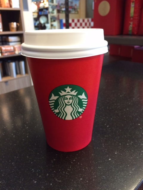 Plain Red Starbuck's Cup   Money Savvy Living