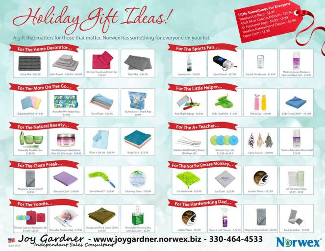 2015 Holiday gift Guide | Norwex | Money Savvy Living