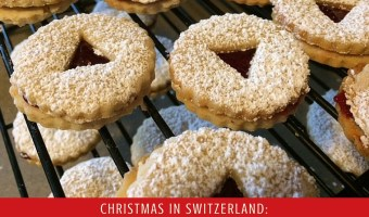 Christmas in Switzerland: Traditional Linzer Cookies