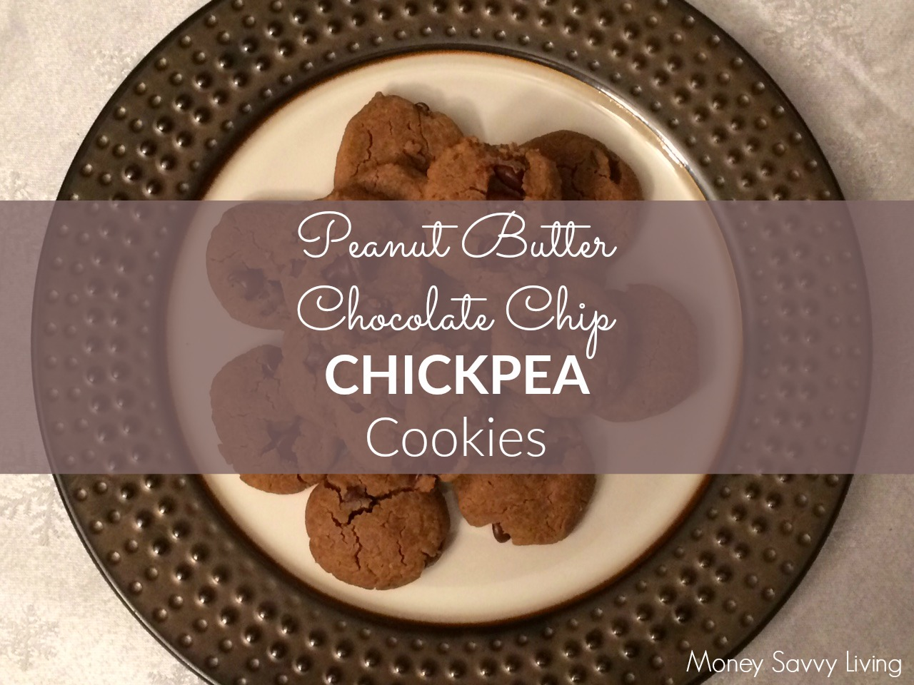 Peanut Butter Chocolate Chip Chickpea Cookies | Money Savvy Living #glutenfree #healthy