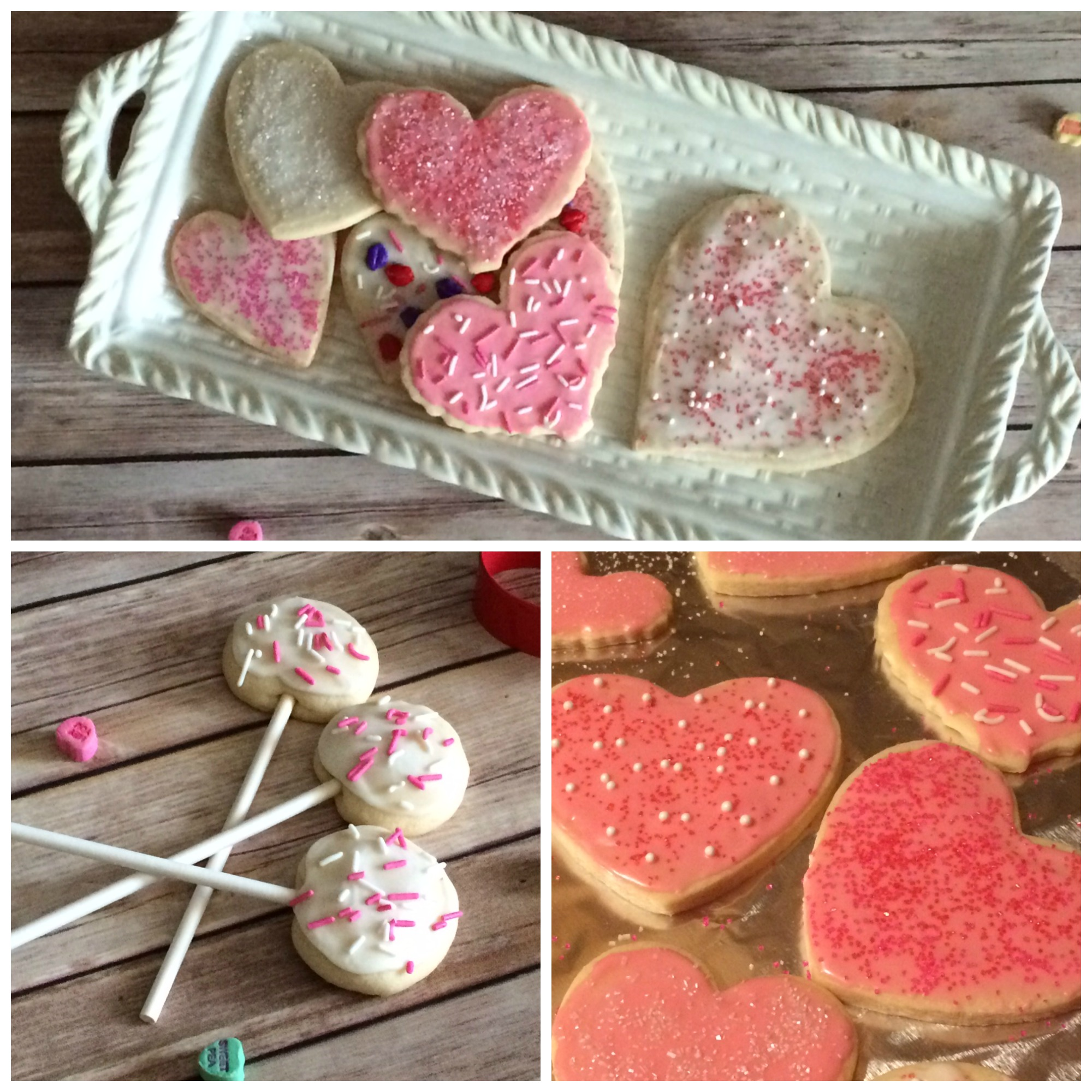 Valentine cookie collage