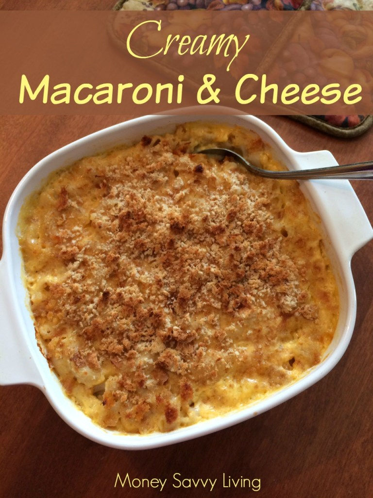 Childhood favorite meets perfect comfort food! This creamy macaroni and cheese is so easy to make and much better for you than the processed cheese! #macaroni #macaroniandcheese #sidedish #comfortfood #easyrecipes #quickrecipes #dinnerrecipes