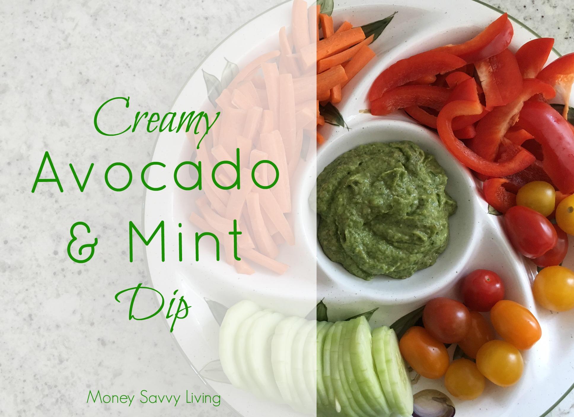 Creamy Avocado & Mint Dip | Money Savvy Living