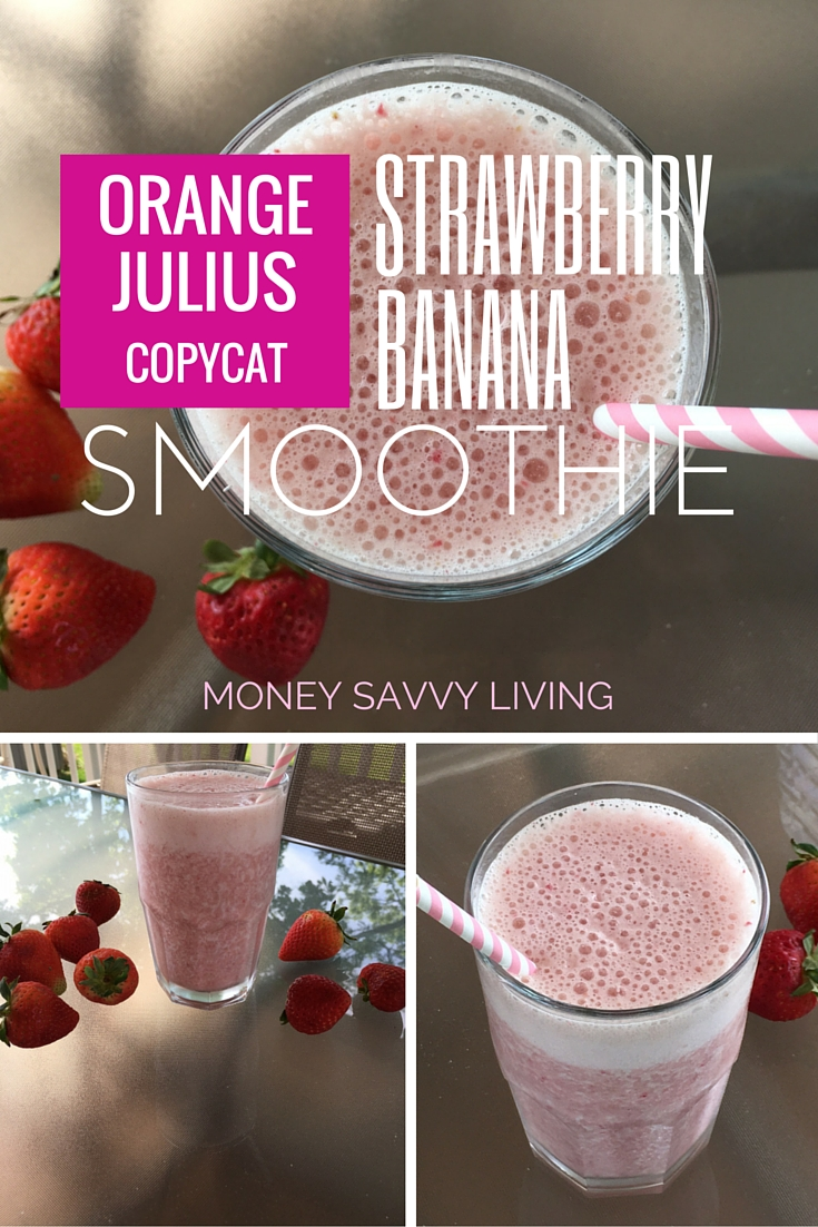 Strawberry Banana Smoothie | Money Savvy Living