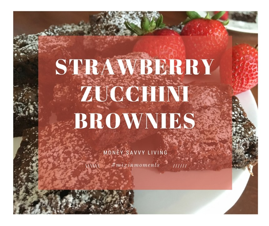 Strawberry zucchini brownies10
